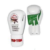 Перчатки TOP TEN с логотипом Всемирных Игр Боевых Искусств